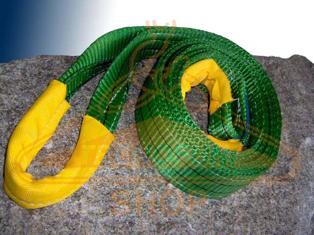 Fascia verde per sollevamento in poliestere Portata kg 2000