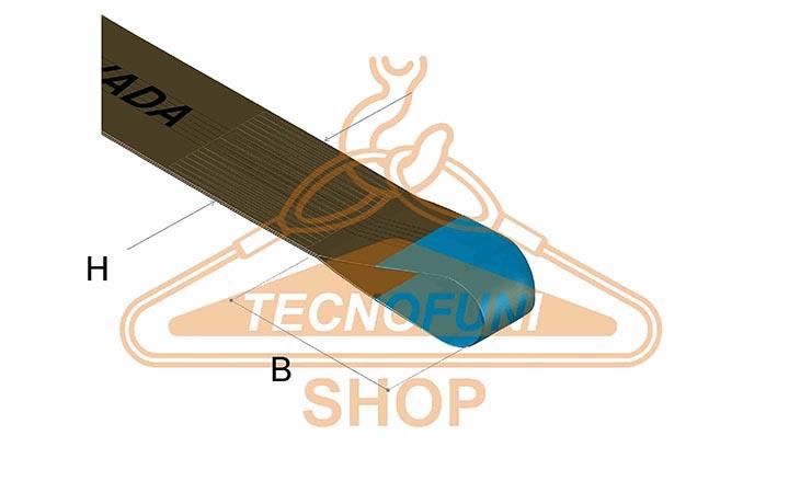 Dimensione asola e larghezza nastro di fascia poliestere doppia marrone