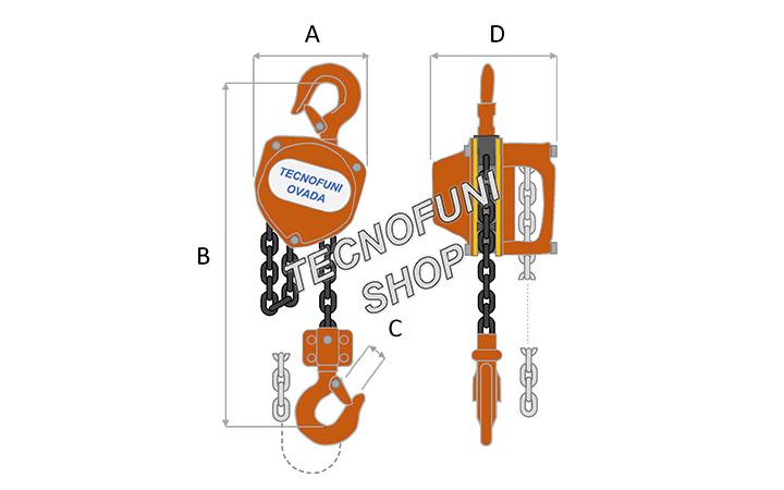Paranco sollevamento manuale a catena