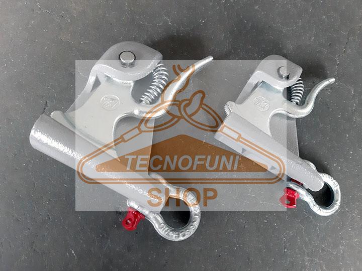 Attacco G2 - G3 - G4 autoserrante per fune di acciaio